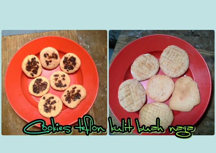 Cookies teflon kulit buah naga