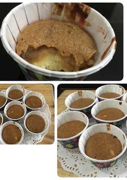 Banana muffin with cream cheese filling