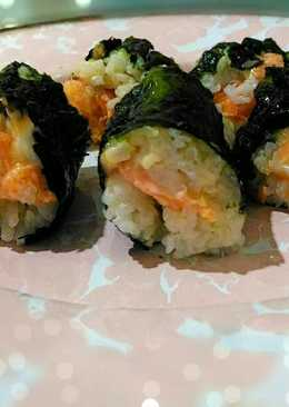 Sushi salmon simple 🎉🍣🍣😍