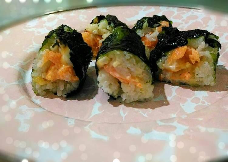 gambar untuk cara membuat Sushi salmon simple  Resep Sushi salmon simple ???????? - safarazkitchen ??????