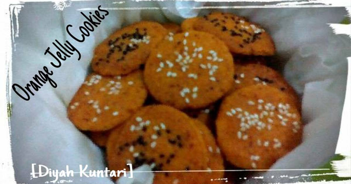 Resep Orange Jelly Cookies