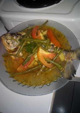 Ikan bawal kuah kuning asam campur kacang panjang ala zizi