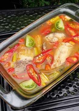 Soup kakap asem pedes steam ala bunda jkb
