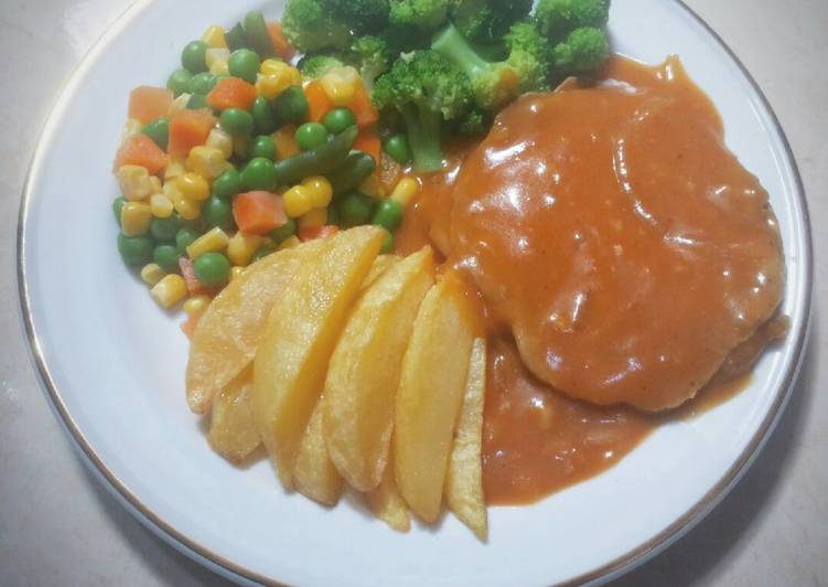 Resep Beef Chiken Steak - Fourdee Kitchen
