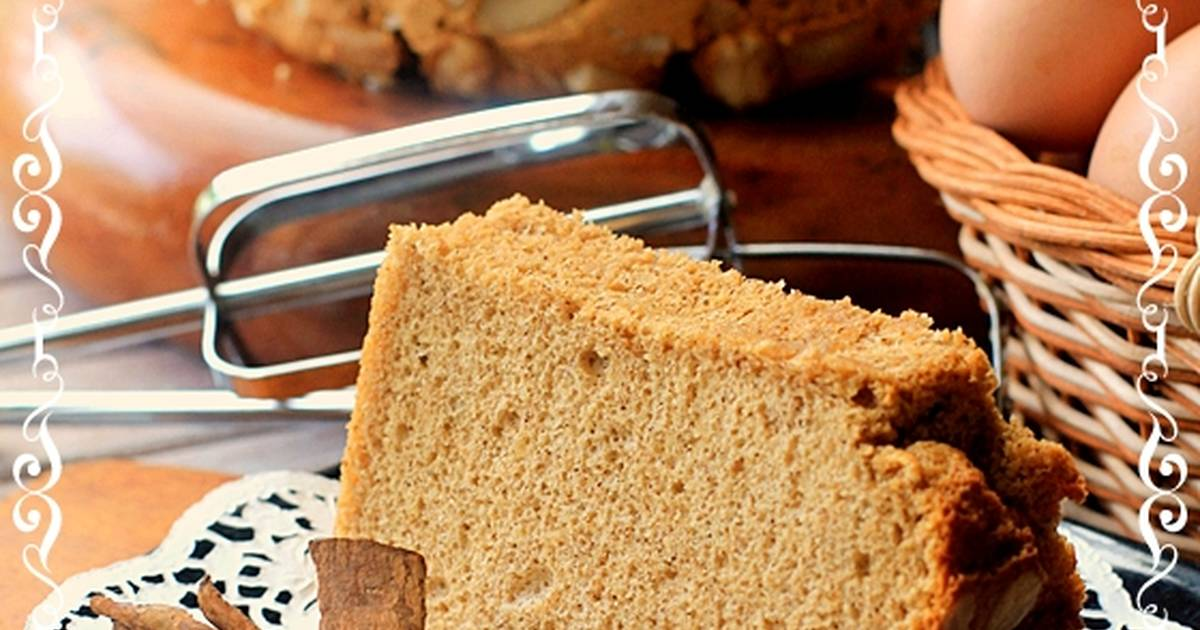 Resep Chiffon Cake Cinnamon Kenari Harum Lembutt