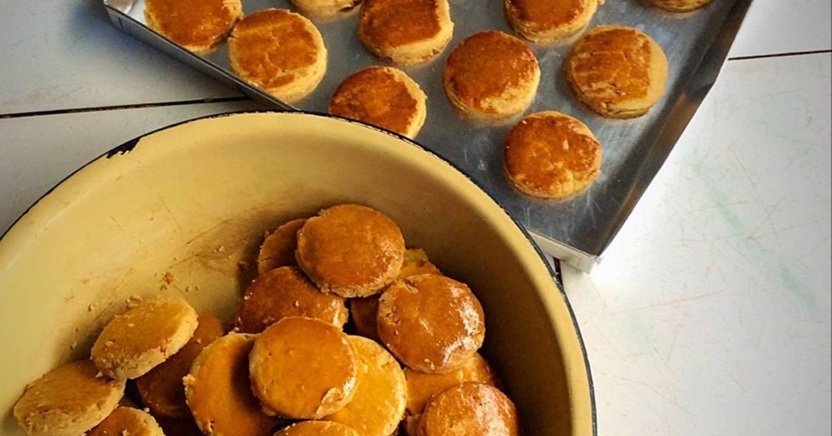 Resep Peanut jam cookies / kue kering selai kacang