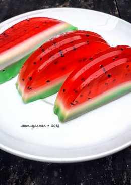 Watermelon Pudding (Puding Semangka)