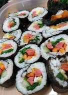 Veggie Sushi roll (Gimbab)