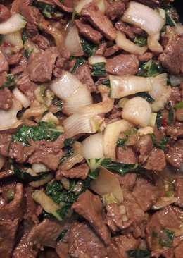 Mongolian Beef Bokcoy (keto friendly)