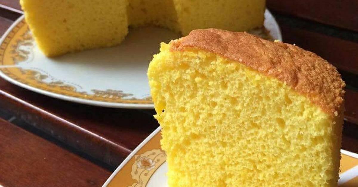 Resep Nutrisari orange chiffon cake