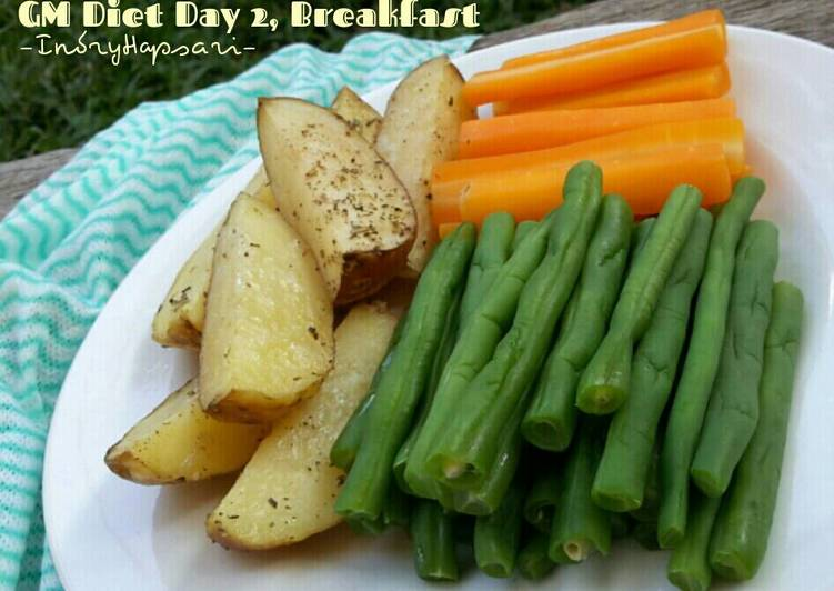Resep Menu Diet GM hari ke 2, Buncis & Wortel kukus ...