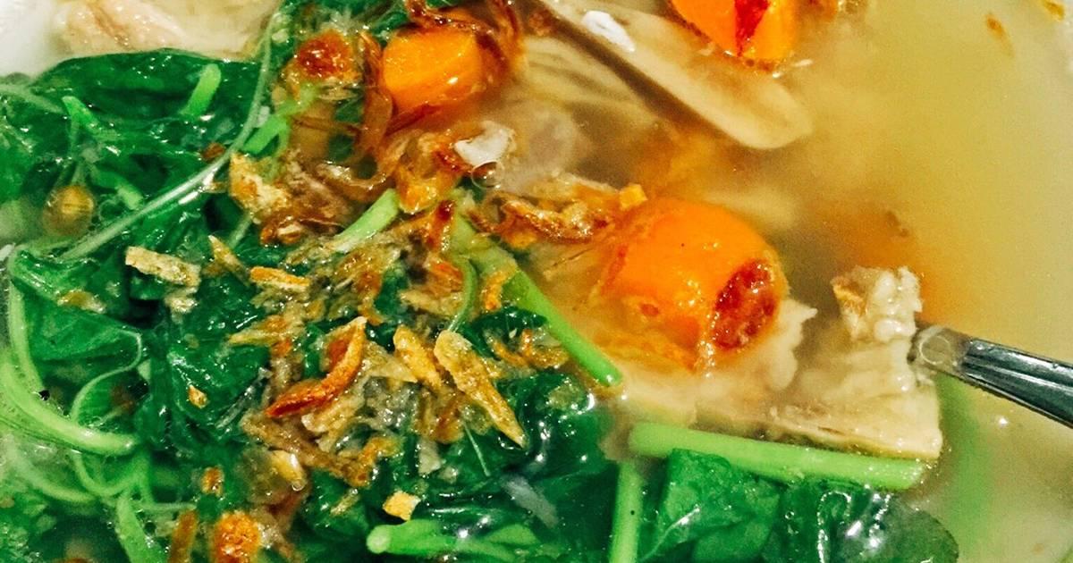 28 resep sup bayam rumahan yang enak dan sederhana   cookpad