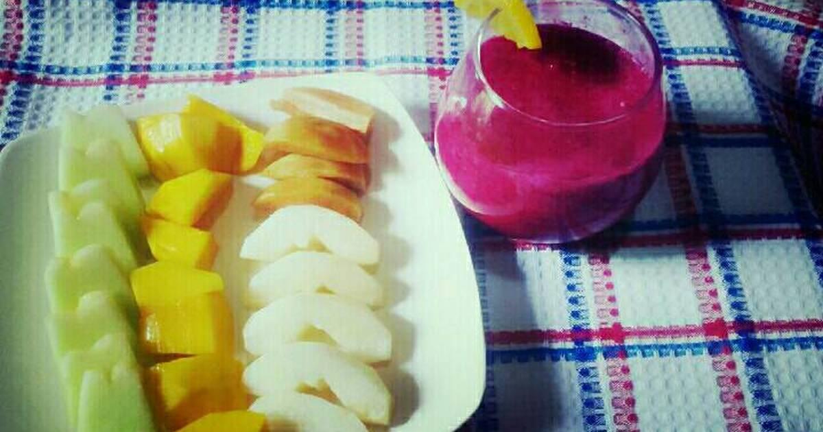 Resep diet mayo : jus buah naga(dietku*day4)