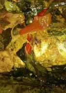 Pepes ikan mas pedas (goreng)