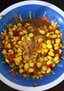 Tumis jagung enoki pedas anak kos