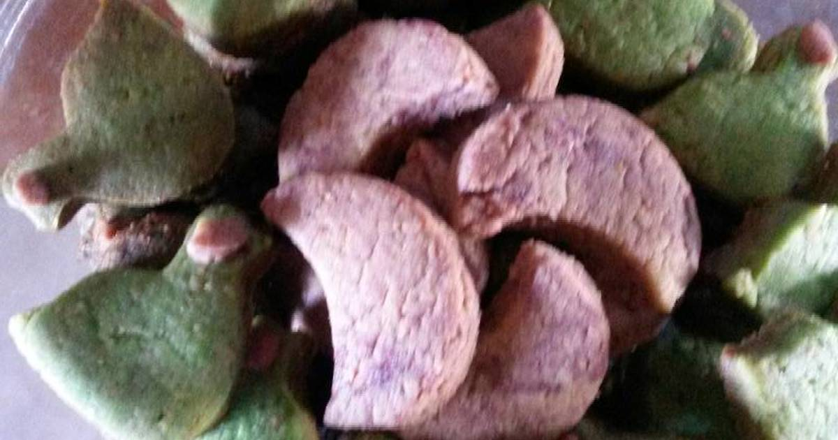 Resep Cookies pandan kacang vanila