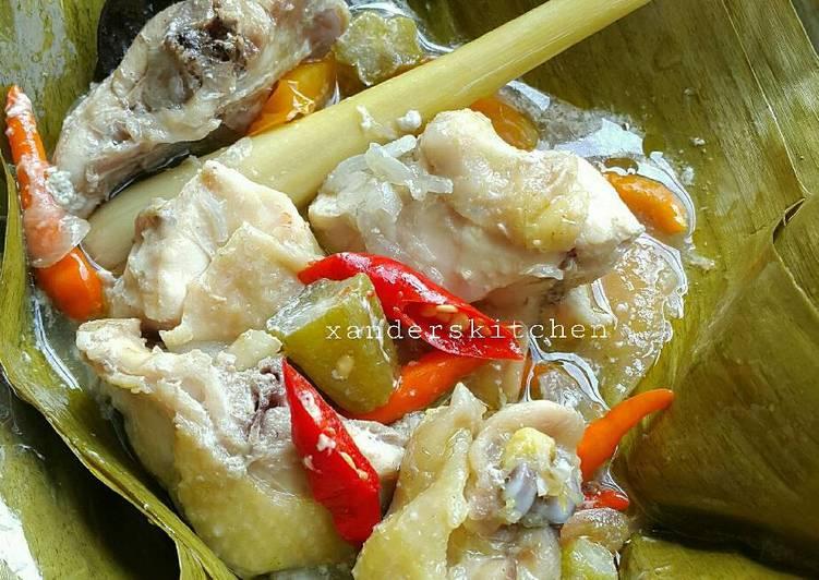 Garang Asem Ayam Kampung Pr_masakanbungkusdaun