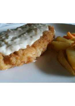 Dori fillet with cheese sauce