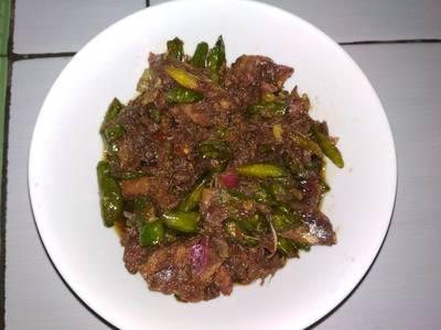 Sambel goreng ikan asin peda cabe rawit