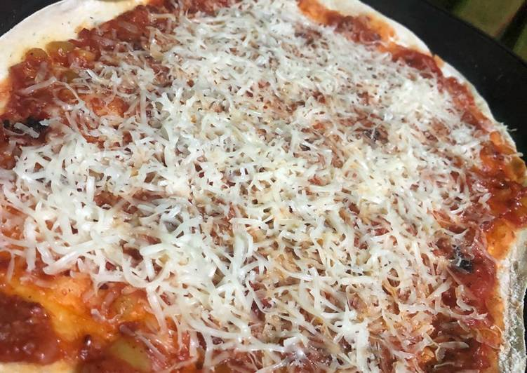 Bolognese crispy pizza happy call double pan