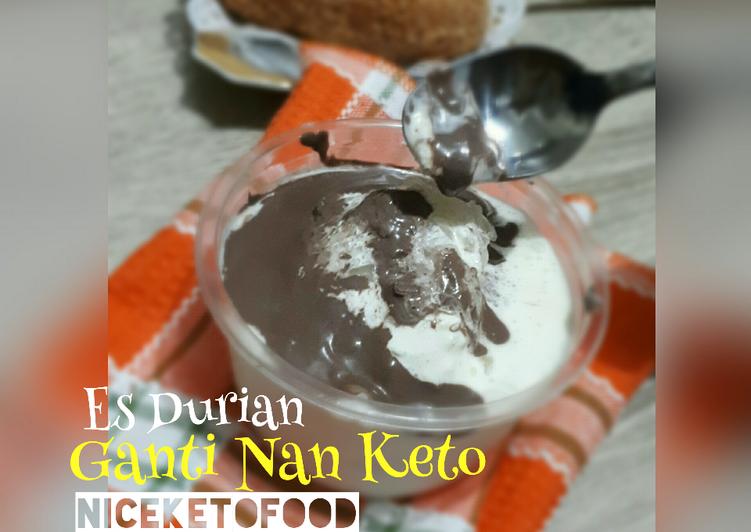 8.Es Durian Ganti Nan Keto #pekaninspirasi #bikinramadanberkesan