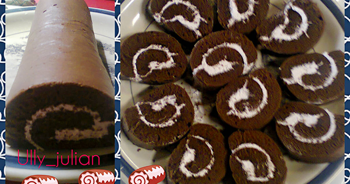 Resep Blackforest roll cake