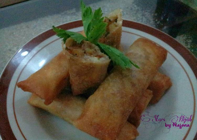 resep lumpia isi sayur daging oleh najma fiq stars hijab