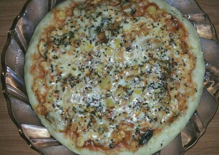 resep Pizza teflon topping ayam