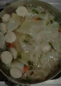 Sup misoa+pangsit daging+bakso ayam