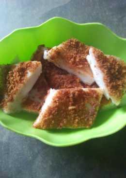 Kue talam tabur abon ikan
