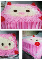 Hello kitty basic rainbow cake (ny liem)