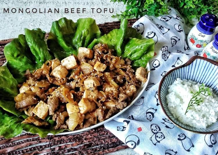 3.Mongolian Beef Tofu #rabubaru #bikinramadanberkesan
