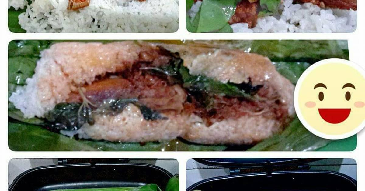 Resep Nasi Bakar Isi Ayam Suwir