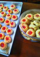 Strowbery trumbprint cookies #bikinramadanberkesan 20