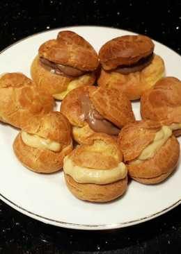 Vanilla - Chocolate Cream Puff / Choux Pastry