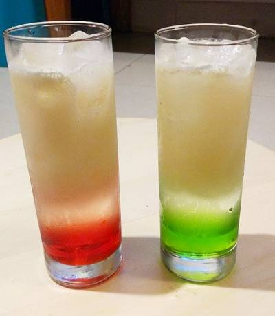 Italian Green/Red Soda Ala Pizza Hut