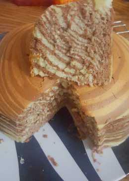 Zebra cheesecake tanpa pengembang