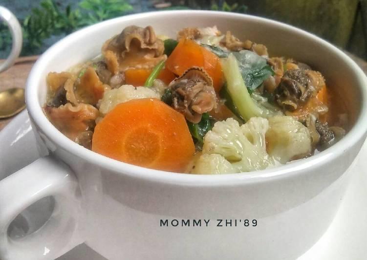 Sop Kerang Dara Kupas+ sayuran (Menu Anak)