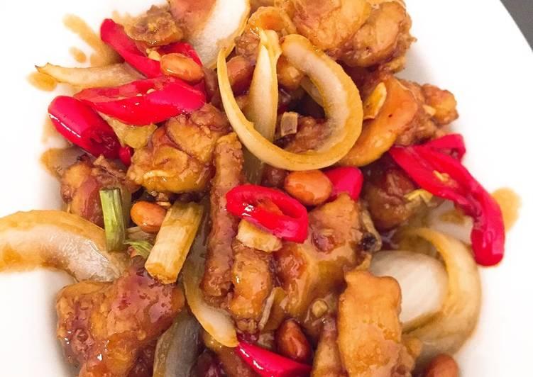 Ayam kungpao masakan rumahan sederhana