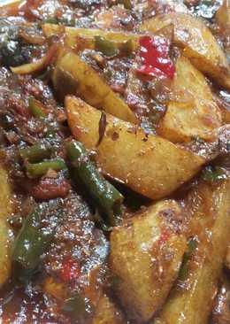 Sarden kentang masak padang
