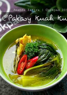 Pakcoy Kuah Kuning (asam segar dg kaldu kepala ikan)
