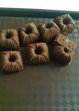 Brownis chocolatos cetak kue putu