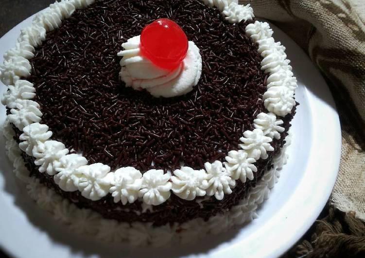 cara membuat Sponge cake coklat
