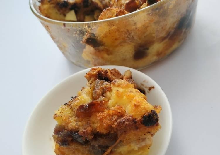 Puding Roti Tawar Vanilla Apel
