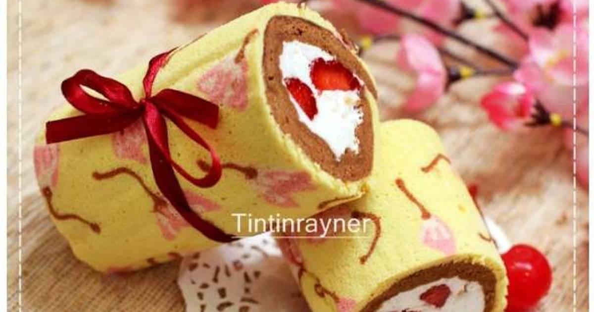 Resep Japanese Roll Cake kukus - enak,ga bau telur