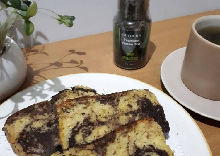 Marmer Cake Almond #ketopad #kisahkasihcookpad