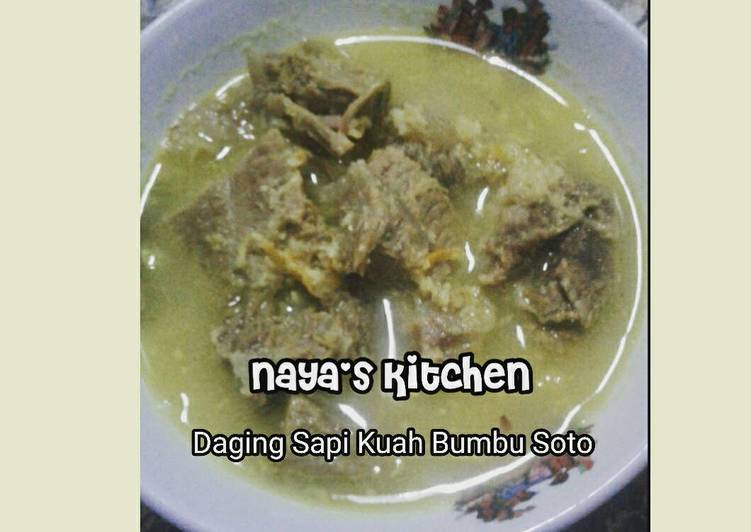 Daging Sapi Kuah Bumbu Soto