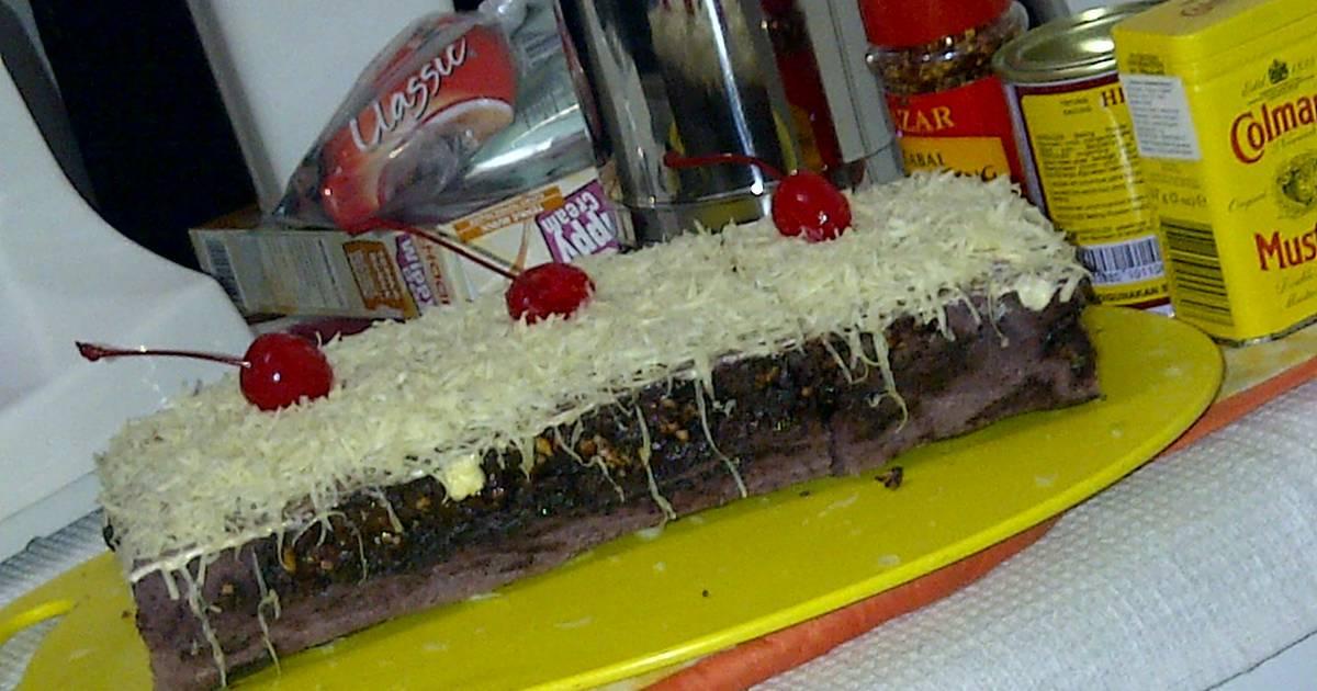 Resep Cake Kukus Ubi Ungu: Resep Brownies Kukus Ubi Ungu Lapis Selai Choconut Oleh