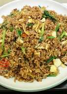 Bolognese Fried Rice with Dried Whitebait