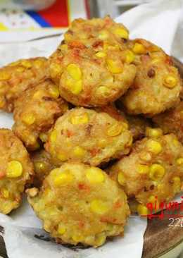 Corn and Tofu Ball Fritters